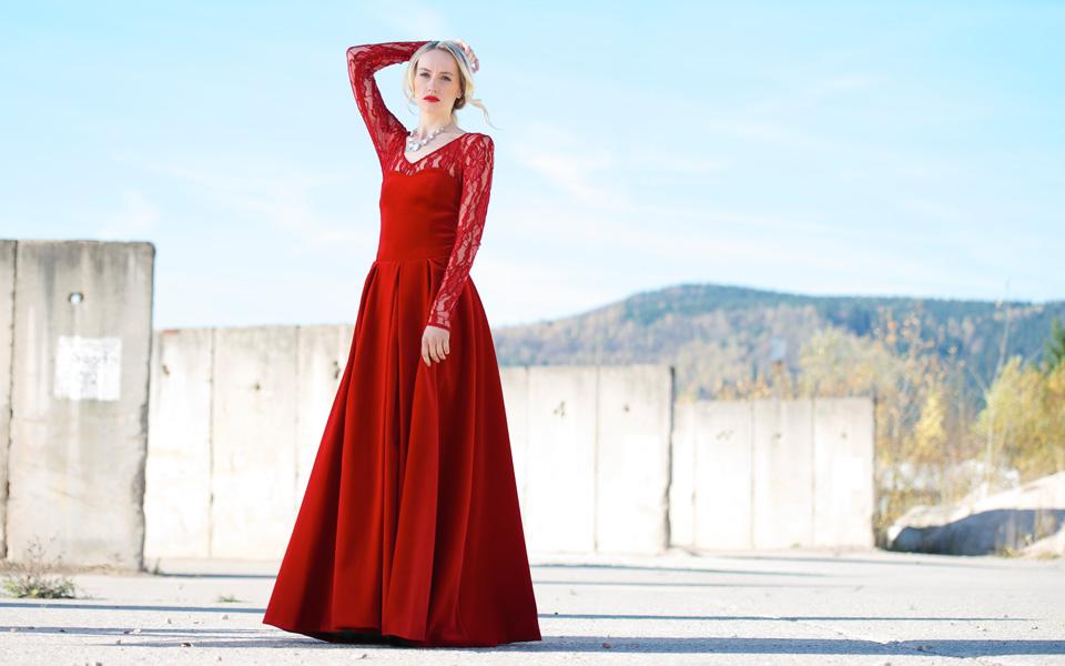 Abendkleid rot Slider