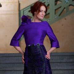 Violettes Abendkleid